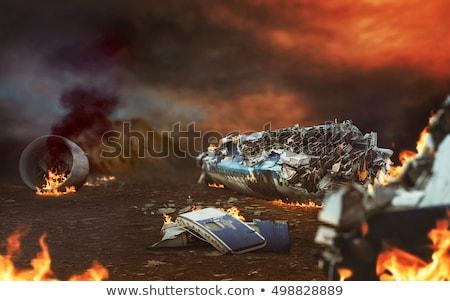 Plane crash Stock photo © silent47