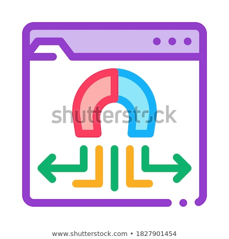 folder magnetic pull icon vector outline illustration Stock photo © pikepicture
