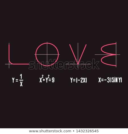 Math Herzen Formel Liebe Hochzeit Stock foto © olira