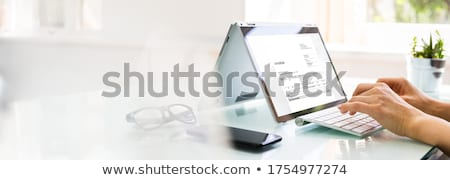 Digital Online E Invoice Accounting Software Stock photo © AndreyPopov