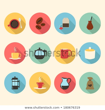 Chá caneca vetor ícone tradicional chá da tarde Foto stock © barsrsind