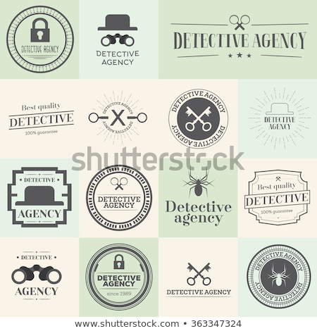 Label badges and stamps set for detective agency. Stock photo © ShustrikS