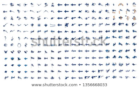 very big collection of vector flags of the Finland Stock photo © butenkow