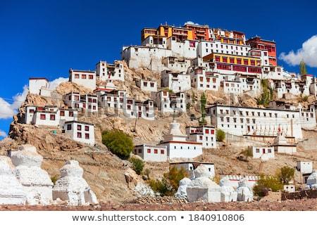 Likir Gompa Tibetan Buddhist monastery in Himalayas Stock photo © dmitry_rukhlenko