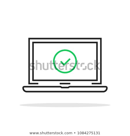 Portátil icono vector ilustración signo Foto stock © pikepicture