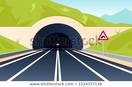 man · rijden · auto · bewegende · snel · snelweg - stockfoto © vladacanon
