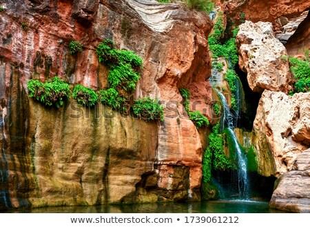 美しい 砂漠 峡谷 を実行して 川 表示 ストックフォト © pixelsnap