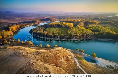 Danubio río plata lago frontera Serbia Foto stock © simazoran