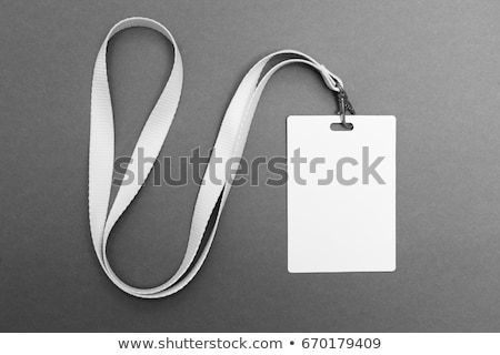 White badge ID card Stock photo © kenishirotie