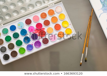 eldobható · teríték · szett · színes · műanyag · izolált - stock fotó © aladin66