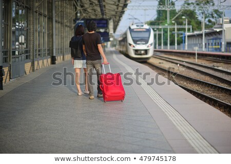 young pair stand having joined hands Stock photo © Paha_L