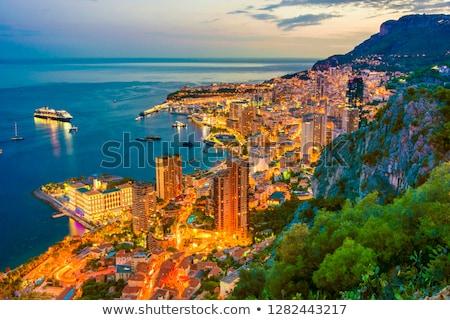 Монако порт сумерки живописный ночь закат Сток-фото © mtilghma