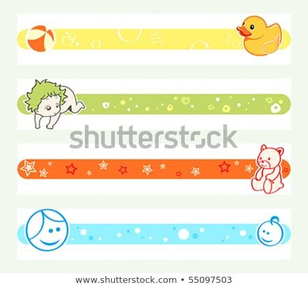Embarazo colorido línea redes sociales ojo nino Foto stock © sahua