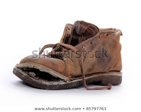 Stockfoto: Oude · schoenen · geïsoleerd · vrouwelijke · mannelijke