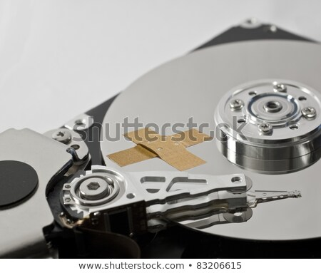 hard disk drive with band-aid Stock photo © gewoldi