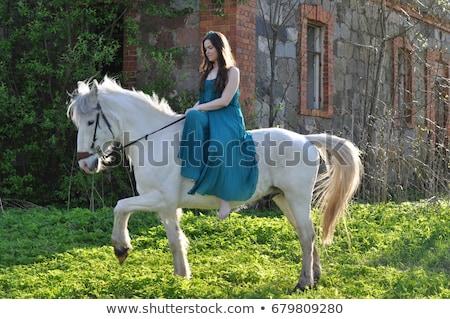 beleza · menina · jovem · bela · mulher · mulheres · parede - foto stock © fotorobs