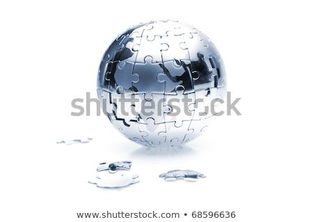 blu · terra · puzzle · mancante · isolato - foto d'archivio © devon