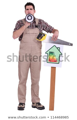 craftsman making an announcement stock photo © photography33