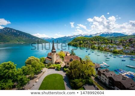 Сток-фото: замок · озеро · регион · лет · каменные · Европа