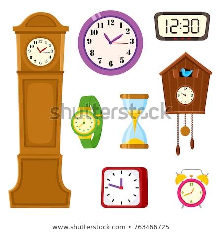 Stockfoto: Wall Clocks Set On White Background