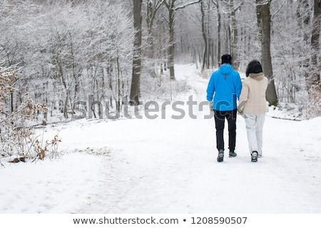 старший пару ходьбе лесу весны человека Сток-фото © photography33