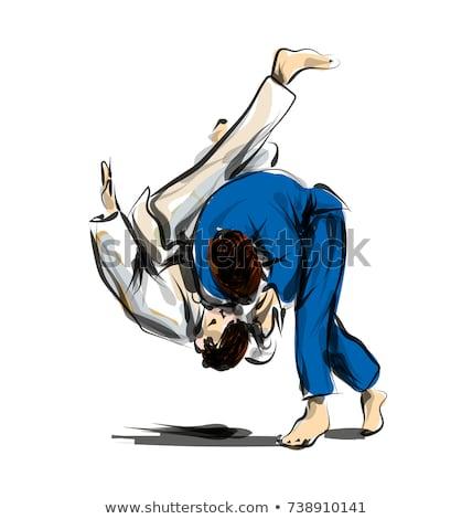 Judo lucha arte equipo retrato masculina Foto stock © photography33