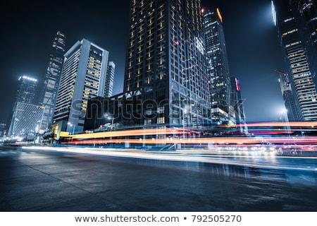 trafik · iz · şehir · manzara · köprü · karayolu - stok fotoğraf © kawing921