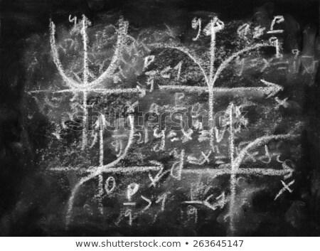 Diagram drawn on a smudged blackboard Stock photo © bbbar