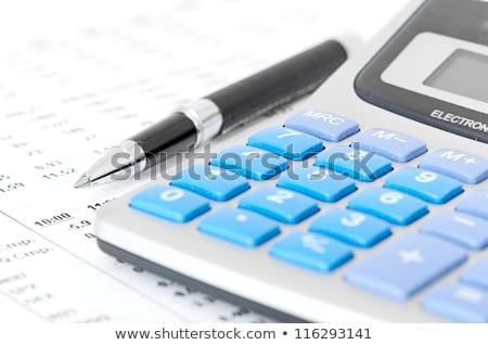 Toll számológép újság pénzügyi lövés stúdió Stock fotó © REDPIXEL