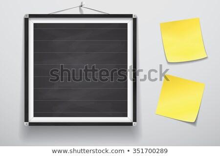 Zdjęcia stock: Tablica · żółty · Uwaga · pusty · czarny · ścieżka