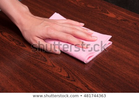 Man sweeping a wooden surface Stock photo © photography33