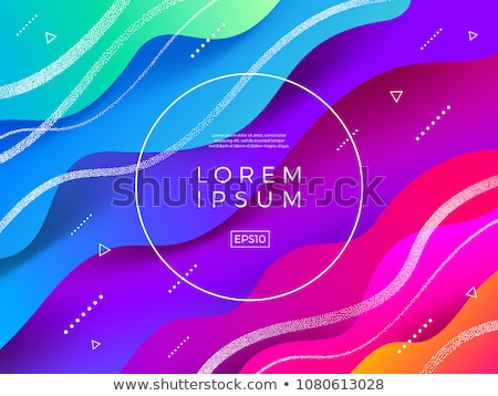 Abstract fluids. Vector illustration with round copy space. stock photo © prokhorov