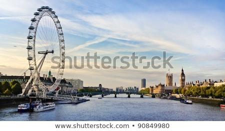 Сток-фото: London Eye With Big Ben At Dusk