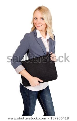 Woman holding portfolio Stock photo © photography33