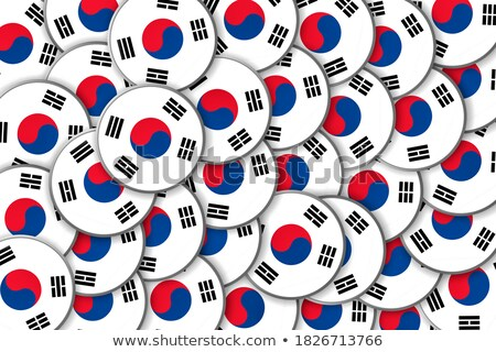 Zdjęcia stock: Stickers Buttons Of National Flags In Oval Shape With Shine Glo