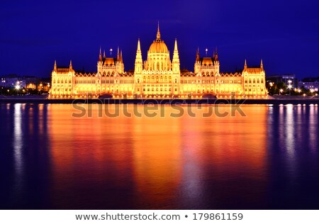 hungarian house of parliament in budapest at the night time stock photo © andreykr