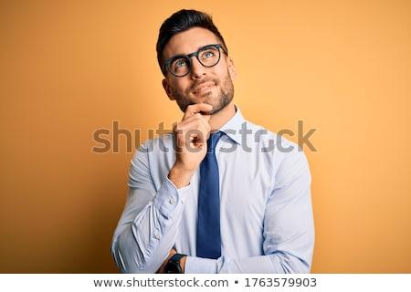 Stock fotó: Jóképű · üzletember · visel · szemüveg · néz · kamerába