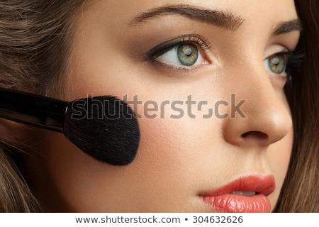 kozmetika · ecset · fehér · arc · szín · gyönyörű - stock fotó © pressmaster