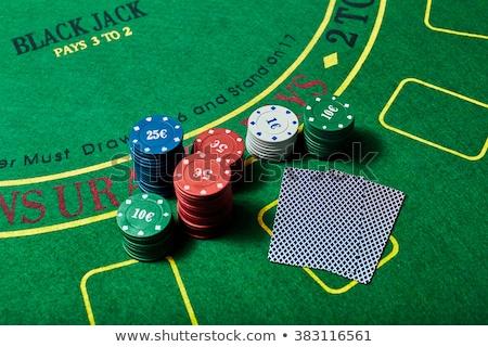 chips · kaarten · casino · tabel · textuur - stockfoto © wavebreak_media