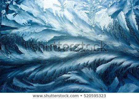 Stockfoto: Ijs · patroon · glas · ijzig · natuurlijke · zonlicht