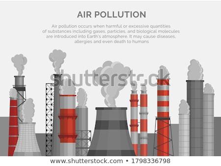 空気 汚染 雲 工場 ビジネス 市 ストックフォト © krabata