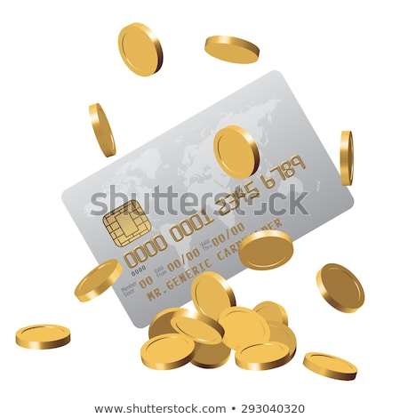 Monete plastica carta carta di credito euro Foto d'archivio © neirfy