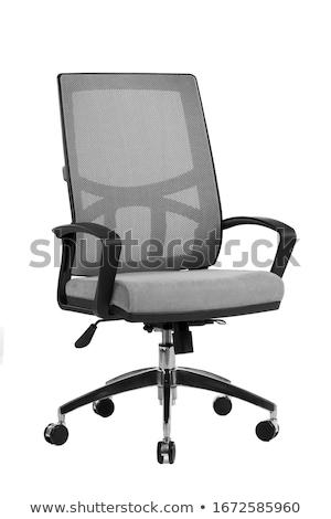 gri · ofis · koltuğu · yalıtılmış · beyaz · iş · sanayi - stok fotoğraf © Supertrooper