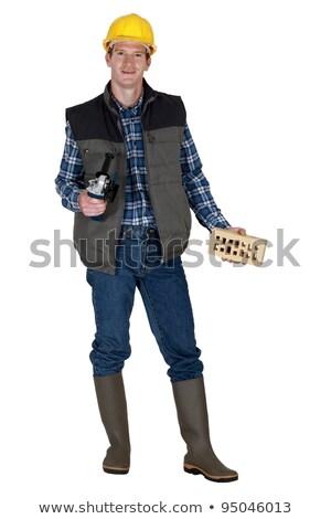 adam · açı · öğütücü · inşaat · işçi - stok fotoğraf © photography33