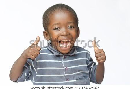 Schooljongen gelukkig handen omhoog school zak Stockfoto © get4net