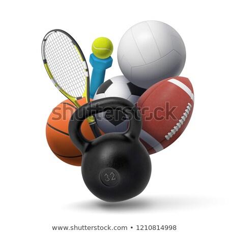 3d · ilustracji · sportowe · wypoczynku · grupy · tle · życia - zdjęcia stock © kolobsek