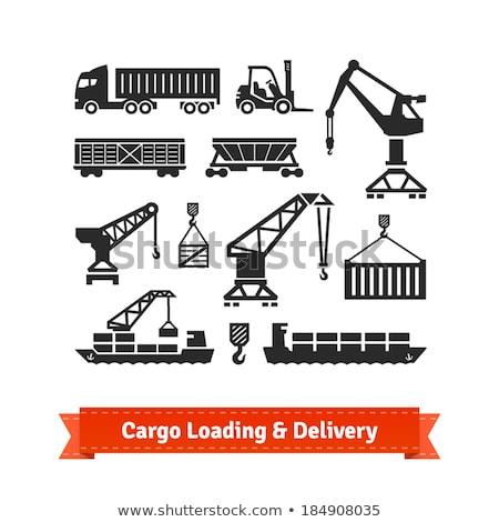 Stockfoto: Vrachtschip · bagage · business · wereldbol · wereld · vliegtuig