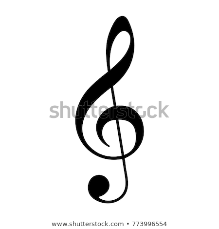 Icon treble clef Stock photo © zzve
