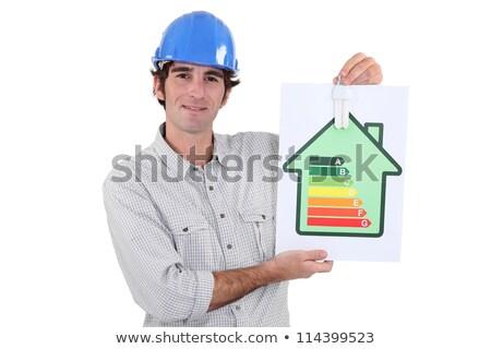 Mutat energia felirat üzlet zöld bár Stock fotó © photography33