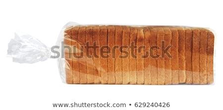 Kenyér cipó fotó fehér étel búza Stock fotó © Marfot